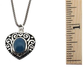 Chalcedony heart pendant.