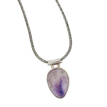 Purple Amethyst sterling silver pendant.