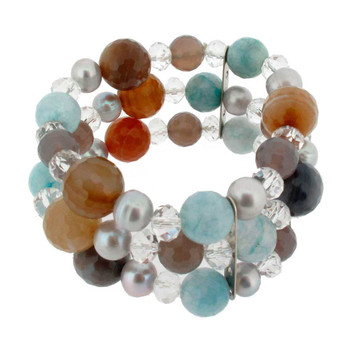 Gemstone beaded bracelet.