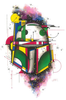 Bounty Hunter by HEK Star Wars Jango Boba Fett Helmet Fine Art Print