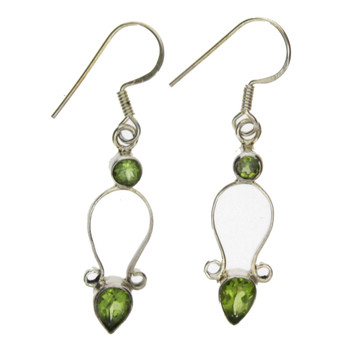 Sterling silver Peridot earrings.