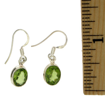 Peridot sterling silver earrings.