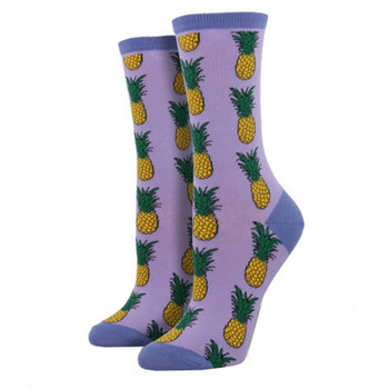 Purple Pineapple Women's Crew Socks