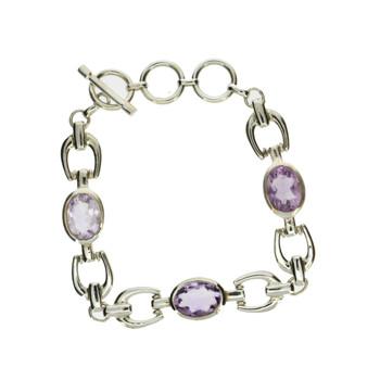 Sterling silver Amethyst bracelet.