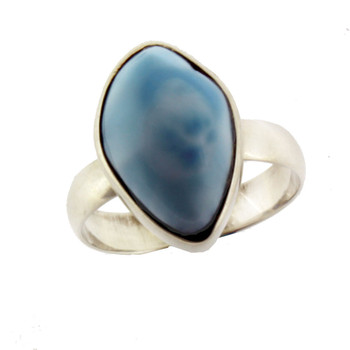 Sterling silver Larimar ring.