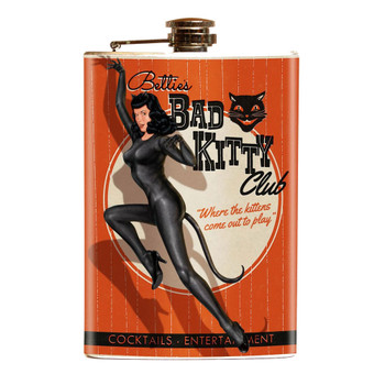 Bettie Page Bad Kitty Flask