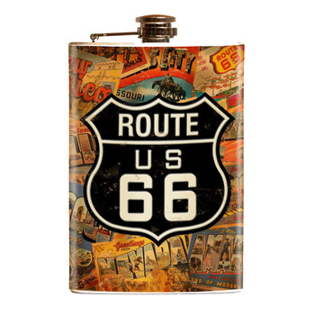 Route 66 Stainless Steel Flask