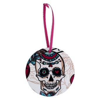 Sugar skull holiday ornament.