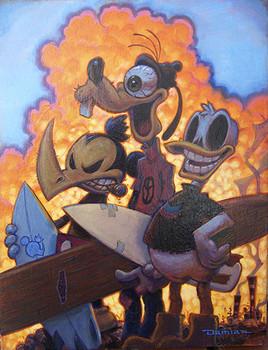 Damian Fulton 3 Amigos Canvas Giclee