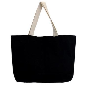Large black tote with Day of the dead skull backside.