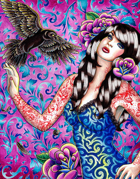 Carissa Rose Raven Canvas Giclee