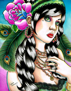 Carissa Rose Gypsy Rose Canvas Giclee