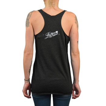 Tattooed Mermaid Unfinished Racer Back Tank back view