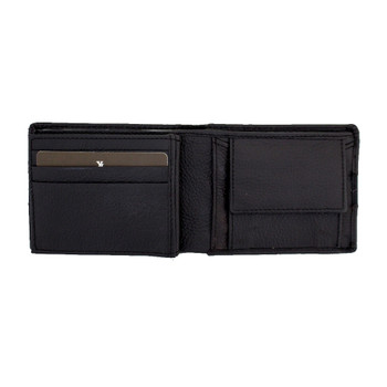Men's brown leather wallet.