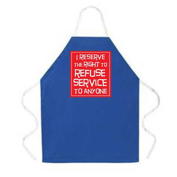 Novelty blue apron.