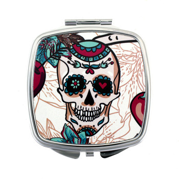 Day of the Dead compact mirror.