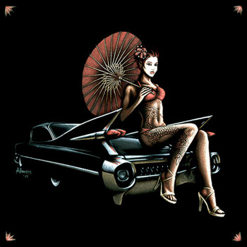 Marco Almera Caddy Geisha Canvas Giclee