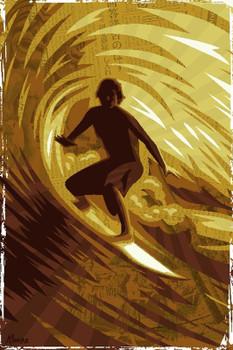 Marco Almera Golden Barrel Canvas Giclee