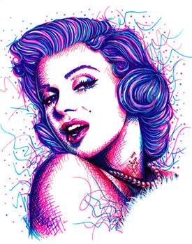 Carissa Rose Long Live the Legend Canvas Giclee of Marilyn Monroe