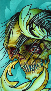 Aaron Cox Wicked Skull Canvas Giclee