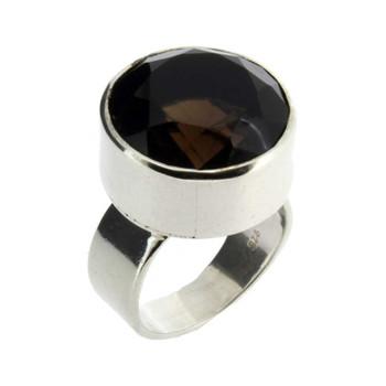 Smoky Quartz silver ring.