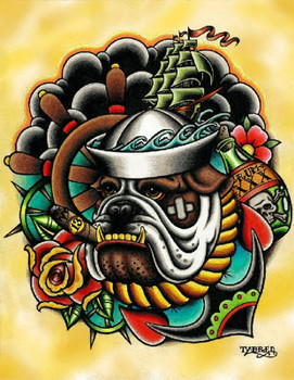 Tyler Bredeweg - Bull Dog - Canvas Giclee