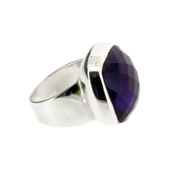 Large Amethyst cocktail ring.