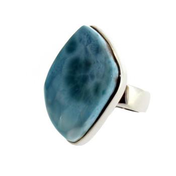 Sterling silver Larimar ring.