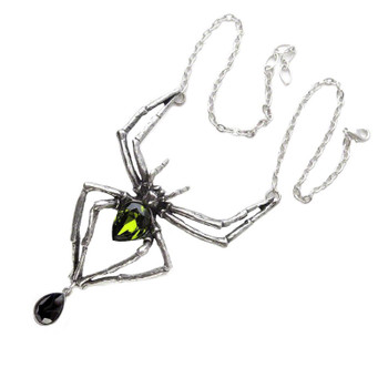 Alchemy Gothic - P432 - Emerald Venom Necklace