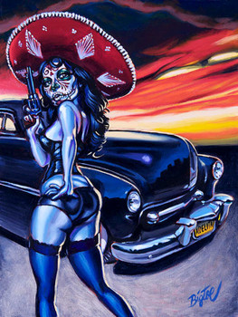 Tom Laura aka BigToe - Adelita - Canvas Giclee
