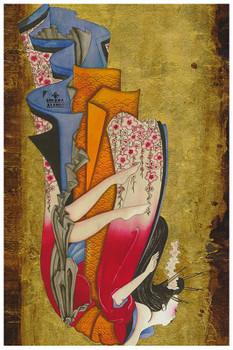 Susana Alonso - Falling Geisha - Fine Art Print