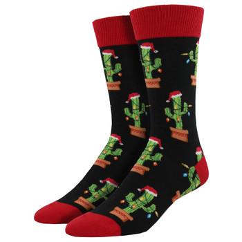 Christmas Cactus Men's Crew Socks