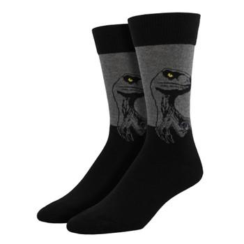 Men's Crew Socks Raptor Dinosaur