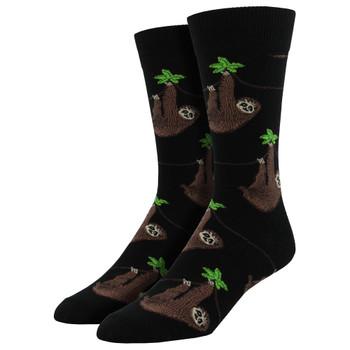 Men's Crew Socks Sloth Black