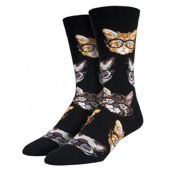 Socksmith Men's Crew Socks Kittenster