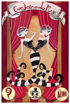 Coinjoinedo Pus by Mcbiff Fine Art Print Retro Carnival Freakshow