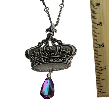 Vintage crown necklace with ruler.