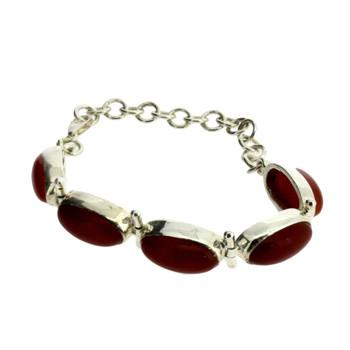 Rust Carnelian Sterling Silver Bracelet