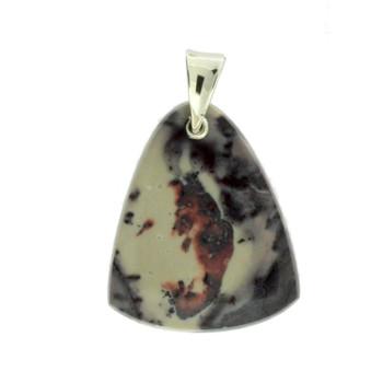 Porcelain Jasper Sterling Silver Pendant