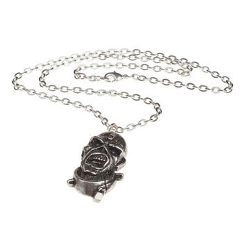 Iron Maiden Eddie Piece of Mind Pendant Necklace Pewter Jewelry PP504