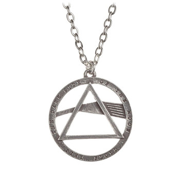 Alchemy Rocks Pink Floyd Dark Side of the Moon Pendant Necklace Pewter Jewelry PP506