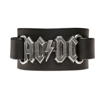 Alchemy Rocks AC DC Logo Leather Cuff Wristband Bracelet HRWL446