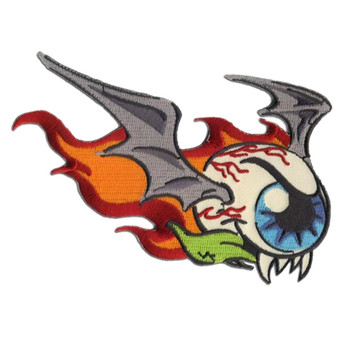Flying Eyeball Weird Bat Monster Patch Embroidered Iron On Applique