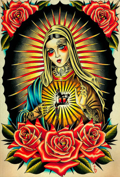 Faith Mary by Tyler Bredeweg Canvas Giclee Tattooed Virgin