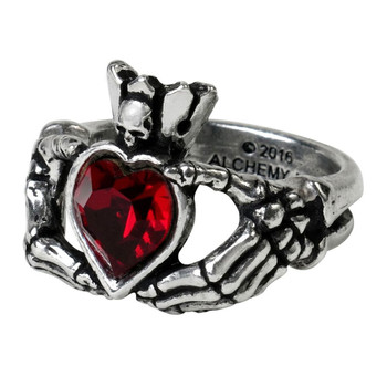 Alchemy Gothic Claddagh By Night Heart Pewter Ring R210