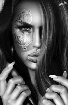 Money Sign Eye by Horbe Canvas Giclee Art Print Sexy Woman