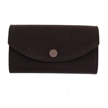 Women's dark brown leather wallet.