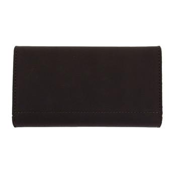 Women's dark brown leather wallet.