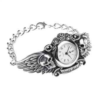 Alchemy Gothic Skull Heart of Lazarus Bracelet Watch Pewter Jewelry AW28