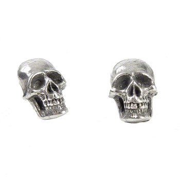 Alchemy Gothic Skull Mortaurium Stud Earrings Pewter Jewelry E342